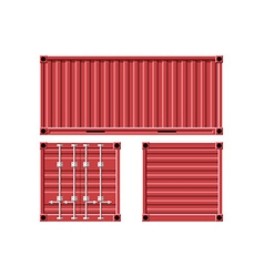 Metal cargo container vector
