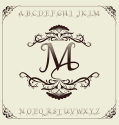 monogram luxury with decorative vector image
