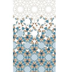 Moroccan star flower seamless pattern vector