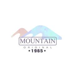 mountain original estd 1965 logo tourism hiking vector image