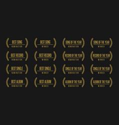 music award nomination winner vector image