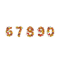 number food printing number of products edible vector image