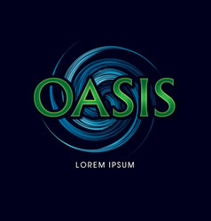 Oasis font vector