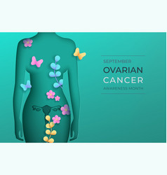 ovarian cancer awareness month horizontal vector image