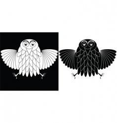 owl cartoon characters vector image