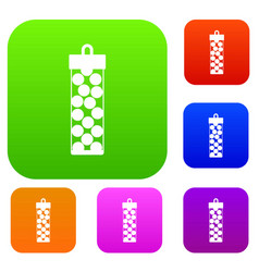 pack with paintball bullets set collection vector image