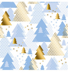 pastel geometric christmas tree seamless pattern vector image