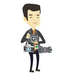 Photographer taking photo vector