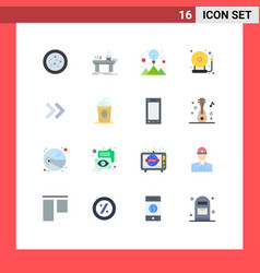 Pictograph set 16 simple flat colors right vector