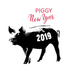 piggy new year banksy vector image