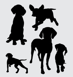 Pointer dog mammal animal silhouette vector