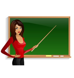 pretty good teacher board Pointer vector image