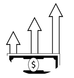 profit growth up vector image