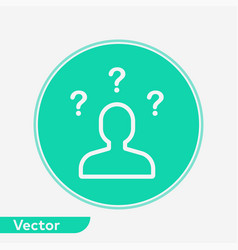 questions icon sign symbol vector image