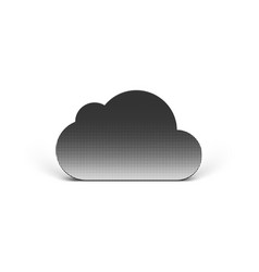 Realistic cloud icon for data storage business vector