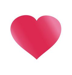 red shape heart icon symbol graphic design vector image