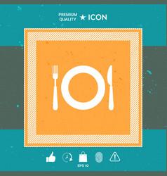 restaurant symbol icon vector image