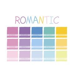 Romantic Color Tone vector image