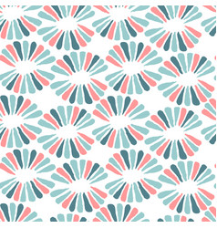 seamless nice pattern with retro flowers vector image