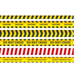 seamless security stripe safety danger signs do vector image