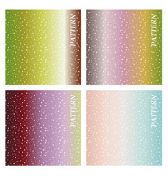 set of colorful geometric background fluid shapes vector image