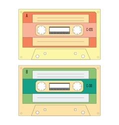Set of various audio cassette tapes vector image