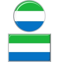Sierra leone round and square icon flag vector