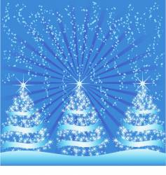 Sparkly Christmas trees vector
