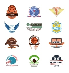 Sport team badge set vector image