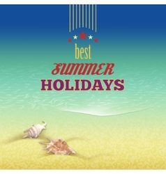 Summer holidays retro style background vector