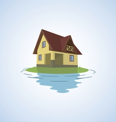 The small house on a light background vector