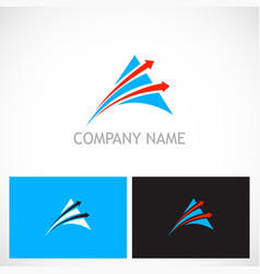 Triangle arrow speed company logo vector