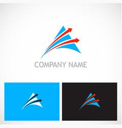 Triangle arrow speed company logo vector