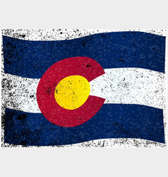 Waving colorado state flag vector