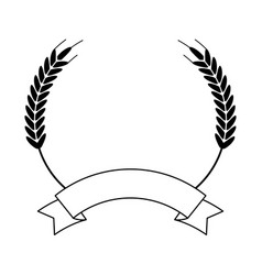 wheat food symbol in black and white vector image