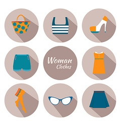 woman clothing icon set vector image