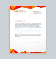 Creative modern poly letterhead design vector