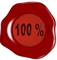 Seal 100 Percent vector image