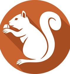 Squirrel with a hazelnut icon vector