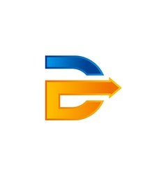 arrow letter D abstract logo vector image