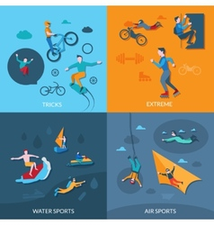 Extreme sports set vector