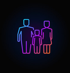 family outline colorful icon vector image vector image