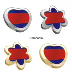 flag of Cambodia vector image vector image