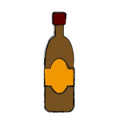 Wine glass bottle drink alcohol cork vector