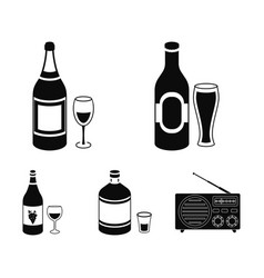 beer champagne white wine absinthealcohol set vector image
