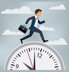 man in suit runs to work vector image