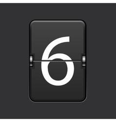 modern numeric scoreboard vector image