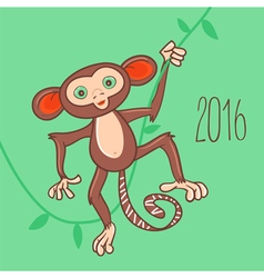 Monkey 2016 vector image