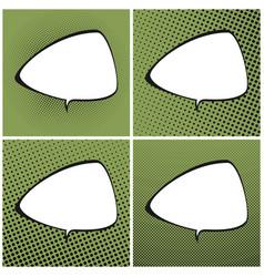 set of green pop art retro speech bubble vector image vector image