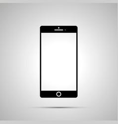 smartphone silhouette simple black icon vector image